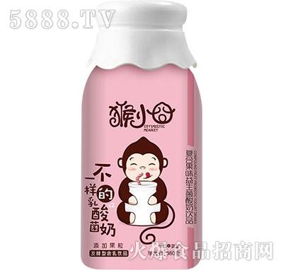 猴小�甯春瞎�味益生菌酸奶380g