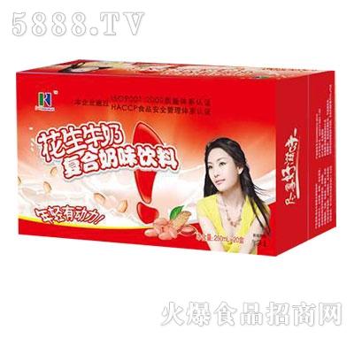 仿山龙潭花生牛奶复合奶味饮料250mlx20盒