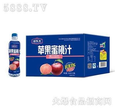 康味来苹果蜜桃汁550mlx15瓶