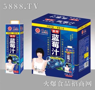 汇之果蓝莓汁饮料1000ML×6盒