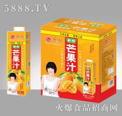 汇之果芒果汁饮料1000ML×6盒