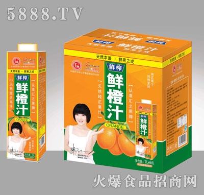 汇之果鲜橙汁饮料1000ML×6盒