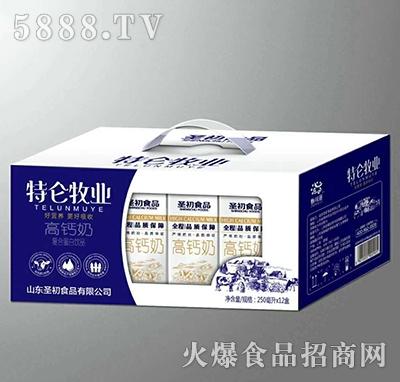 圣初特仑牧业高钙奶250mlx12盒