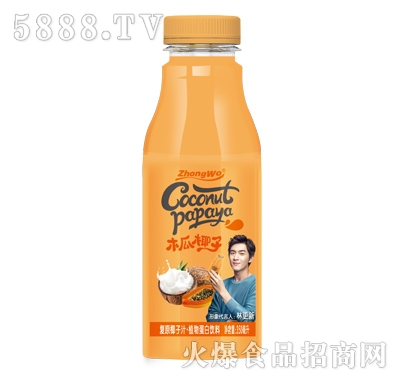 木瓜椰子植物蛋白饮料350ml