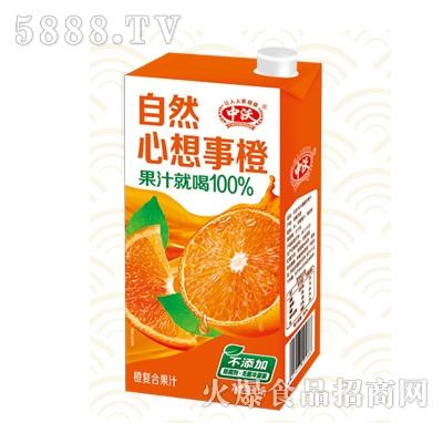 中沃100%橙汁饮料1L