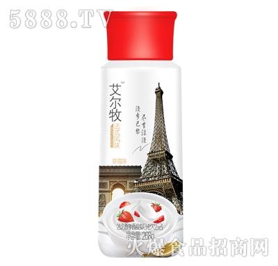 艾尔牧发酵酸奶饮品草莓味268g