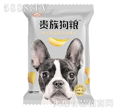 兴华贵族狗粮韩式田园番茄味薯片70g