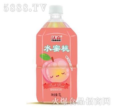 沃森蜜桃果味饮料1L