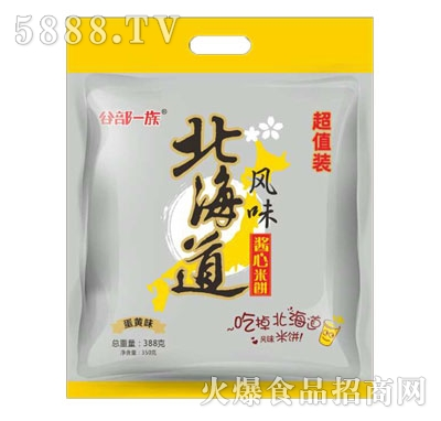 谷部一族北海道风味酱心米饼蟹黄味388g