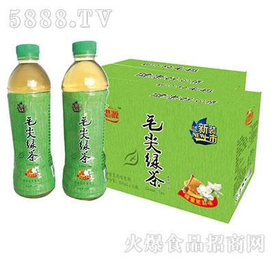 饮思源毛尖绿茶箱装500mlx15瓶