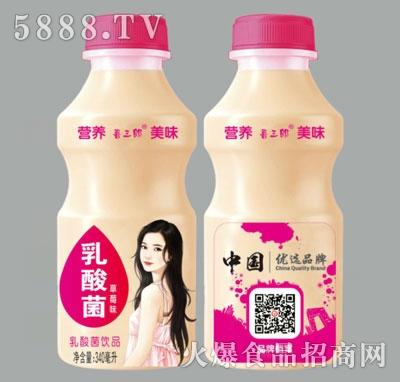 喜三郎草莓味乳酸菌饮品340ml