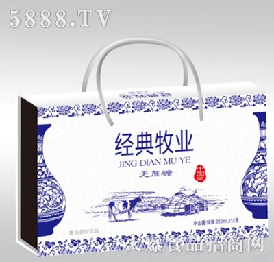 经典牧业无蔗糖蛋白饮料250mlx12盒