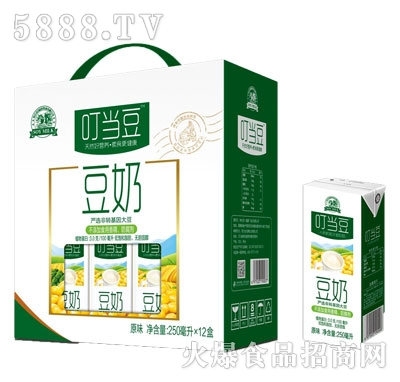 叮当豆复合蛋白豆奶250mlx12盒礼盒装