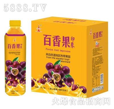 亚宝奇百香果印象百香果果茶果汁饮料1Lx6瓶