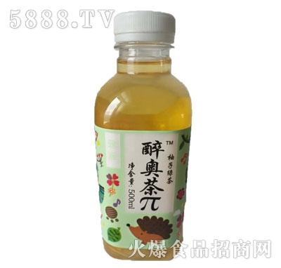 醉奥茶π500ml柚子绿茶