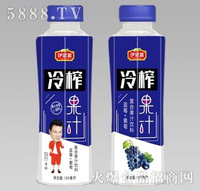 伊思源冷榨蓝莓葡萄果汁500毫升
