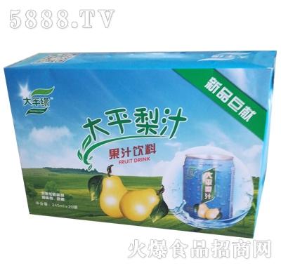 大平缘大平梨汁果味饮料245mlx20瓶
