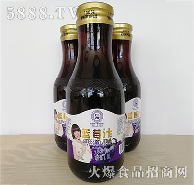 汇之果半把手蓝莓汁1.5L