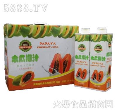 椰欣木瓜椰汁1Lx6瓶
