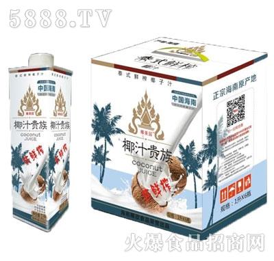 椰果园椰汁贵族椰子汁1Lx6瓶