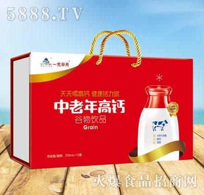 一光日月中老年高钙谷物饮品250mlX12盒