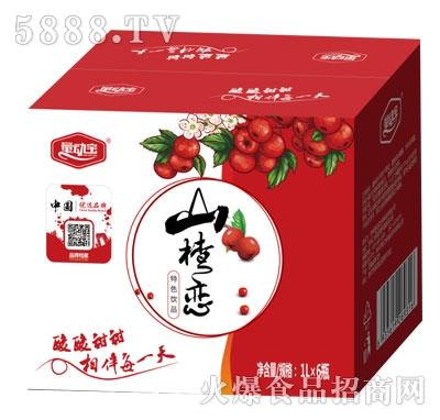 量动宝山楂恋山楂汁1LX6瓶