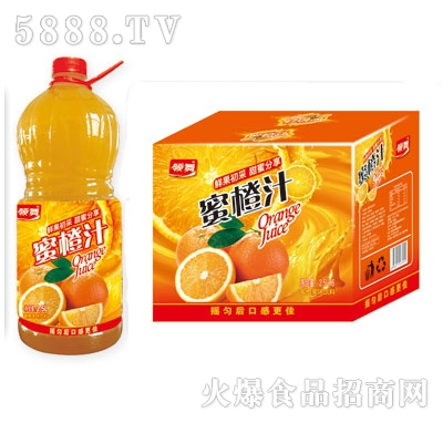 领舞蜜橙汁蜜橙果味饮料2.5LX6