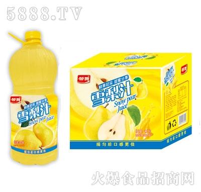领舞雪梨汁雪梨果味饮料2.5LX6