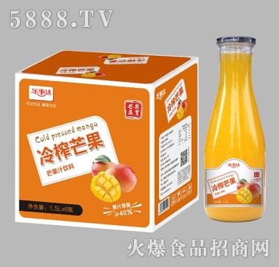 乐事达冷榨芒果汁元宝瓶1.5Lx6瓶