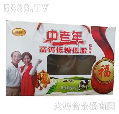 豪旺中老年高钙低糖低脂核桃味风味饮料(箱)