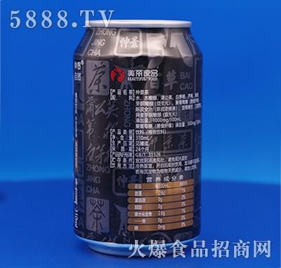 仲景自然无糖仲景茶310ml(背面)