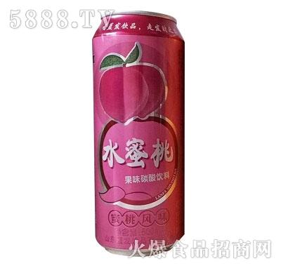 蓝发饮品水蜜桃果味碳酸饮料