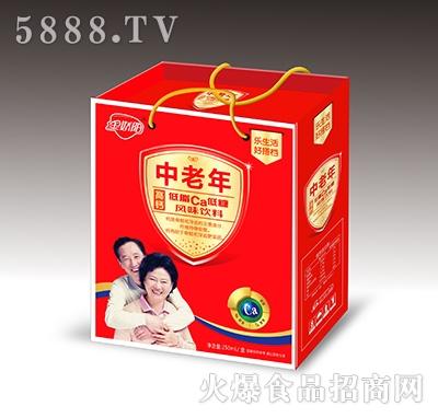 金娇阳中老年高钙风味饮料红色礼盒