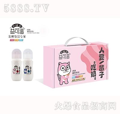 益可滋带奶嘴玻璃瓶发酵酸奶280mlx6瓶