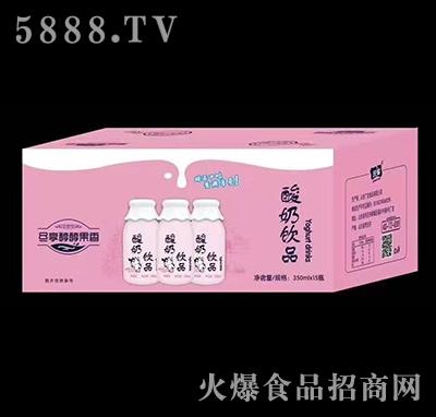 庆耀酸奶饮品草莓味350ml×15瓶