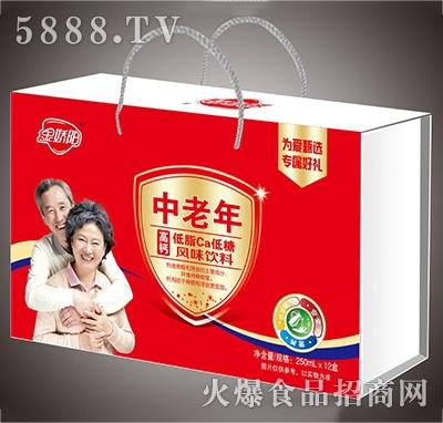金娇阳中老年风味饮料250mlx12盒