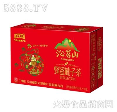 王老吉沁茗山蜂蜜柚子茶果味茶饮料250mlx16盒