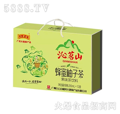 王老吉沁茗山蜂蜜柚子茶果味茶饮料250mlx12盒