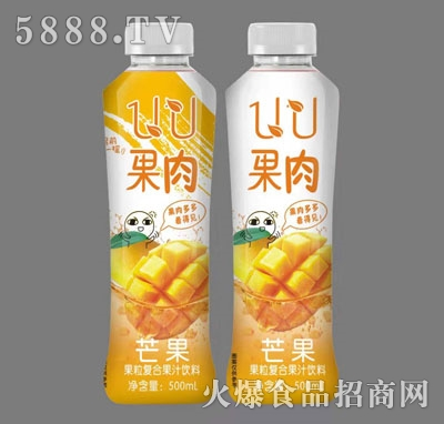 UU果肉芒果果粒复合果汁饮料500ml