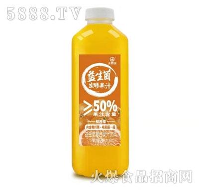 卡妙夫益生菌发酵果汁鲜橙味1.5L