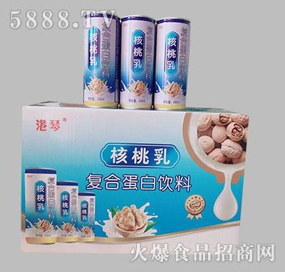 港琴核桃乳复合蛋白饮品240ml箱装