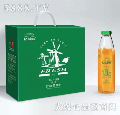 亿益滋发酵芒果汁1LX6瓶