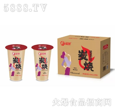 益城炭烧烤奶茶420mlX30