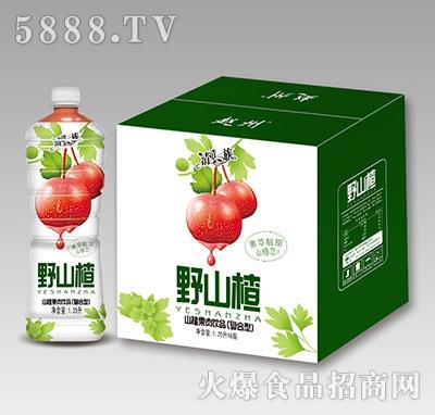清清一族野山楂果肉饮品1.25L×6瓶