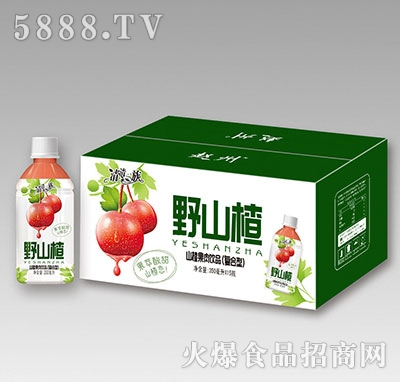 清清一族野山楂果肉饮品350ml×15瓶
