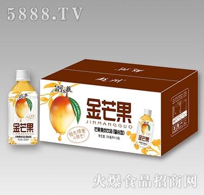 清清一族金芒果果肉饮品350ml×15瓶