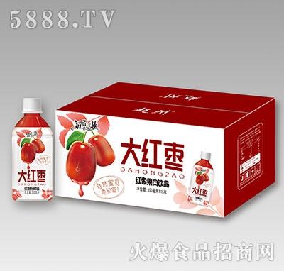清清一族大红枣果肉饮品350ml×15瓶
