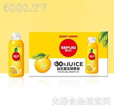 禧百氏百事悦百香果益生菌发酵复合果汁428mlx15瓶