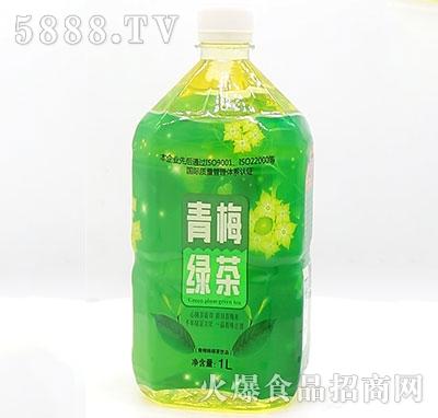 佳美青梅绿茶1L