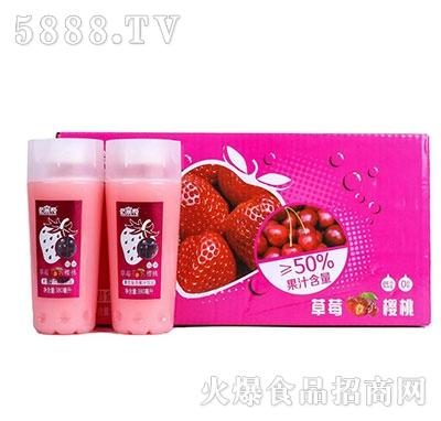 哈�帮草莓樱桃果昔果汁380mlx15